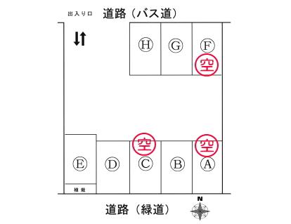 「泉台エコパーキング」神戸市北区泉台4丁目の賃貸駐車場の区画図です