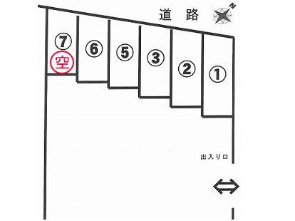 「加村パーキング」神戸市北区鈴蘭台南町5丁目の賃貸駐車場の区画図です