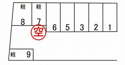 「北五葉パーキング」神戸市北区北五葉5丁目の賃貸駐車場の区画図です