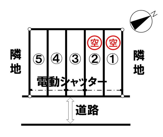 「甲栄台パーキング」神戸市北区甲栄台5丁目の賃貸駐車場の区画図です