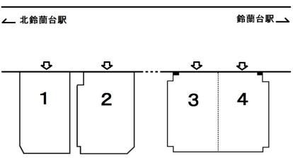 「甲栄台駐車場」神戸市北区甲栄台5丁目の賃貸駐車場の区画図です