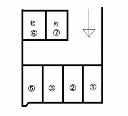 「広陵町パーキング」神戸市北区広陵町1丁目の賃貸駐車場の区画図です