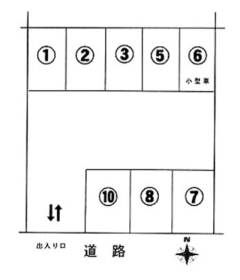 「惣山町パーキング」神戸市北区惣山町4丁目の賃貸駐車場の区画図です